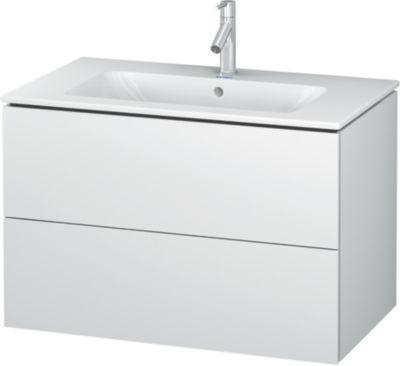 Duravit L-Cube vaskeskab med 2 skuffer. 1020 x 481 mm. Hvid højglans. Passer til vask 635412000