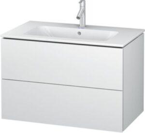 Duravit L-Cube vaskeskab med 2 skuffer. 820x 481 mm. Hvid højglans. Passer til Starck vask 635411000