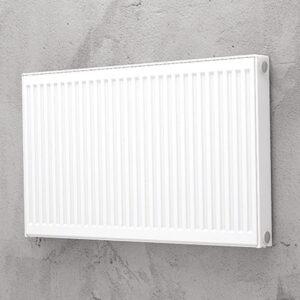 Standard plan radiator 33 – 500 x 500 mm. 4x½ tomme